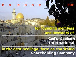Exposé for Founding Members of God's Sabbath International